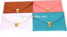 Cheapest Women Lady Fashion PU Leather Lady Envelope Bag