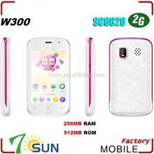 "W300 3.5"" Capacitive Screen DualSim Quadband Android 2.3 WIFI SC6820 smartphone"