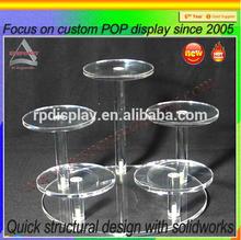Custom 3 tiers acrylic cake display shelf and holder