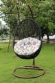 Lit balançoire chaise en osier rotin tissé en forme d'oeuf Éventail hamac