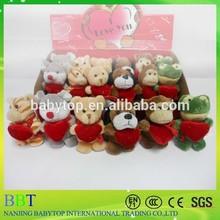 Mini atacado barato teddy bear, Barato dos namorados brinquedos animais