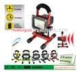 5w portátil recargable del led de inundación, luz de color rojo con la función de flash, portátil led de luz de emergencia