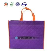 Promotional Nonwoven Shopping Bag purple non woven bag