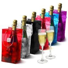 Factory hot sale pvc wine cooler bag