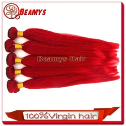 2015 Newset Hair Style, Unprocessed 6A Quality Colored Red Brazilian Hair Weave