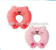 Wholesale top quality plush animal shaped neck pillow, plush emoji pillow