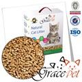 2015 natural de productos para mascotas de pino de pellets de madera de la litera del gato surtidor de la fábrica