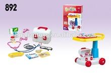 Doctor toy set trolley medical set
