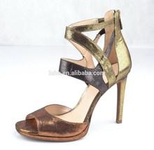 Neueste mode aus leder high heel frauen schuhe sommer sandalen/sexy sandalen für frauen 2015