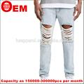 rhr المغسول جديدة ثقب تصميم الخرق الجينز الرجال الجينز جينز لل
