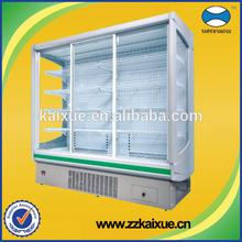 Porta de vidro de frutas e vegetais refrigerador vertical