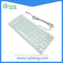 78 Keys Wired Mini External Computer Keyboard