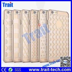 TOTU Ambulatory Gold Elegant King Style Still Chart phone case Houndstooth phone case Ultraslim Hard PC Case for iPhone 6 Plus