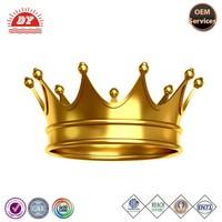 custom plastic gold king crown