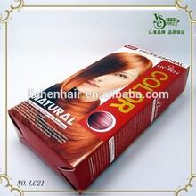 Venta caliente del pelo temporal del tinte más bajo precio orgánico rojo colores de tinte de cabello