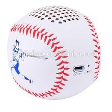 Music Angel 2015 new gadget baseball bluetooth speaker promotional gift bluetooth speaker small ball speaker