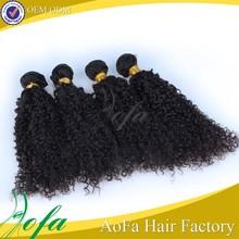 Aofa soft hair 100% virgin remy afro kinky human hair can dye