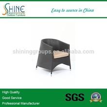 aluminum frame Stackable rattan chair/ paito club chair furniture (SOF8005)