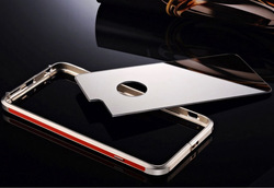 """China manufacturer fashion metal case for IPhone 6 4.7"""" Aluminum bumper with mirror cover case"""