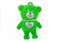 9-inch Best selling light up big lovely bear ball,funny toys for kids