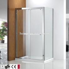 rectangular by pass 8mm shower screen for bathroom