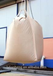 1 tonne beige color china pp jumbo bag pp woven bulk bag 95*95*135cm with lamination