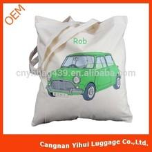 personalised green mini cotton shoulder bag cotton tote bag