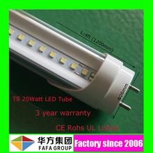 3 years warranty,best quality 20w t8 led tube luminate CRI>80