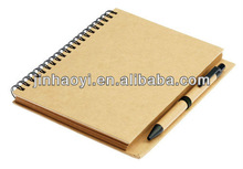 120 Sheets,80-120sheets Inner Pages and Hardcover Style kraft paper blank notebook