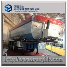 25000 kg 3 hardox eixo semi-reboque basculante