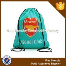 organic small cotton drawstring sports bag