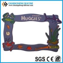 Cheapest 3D OEM rubber PVC photo frame/photo holder