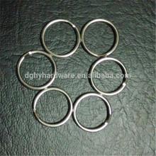 15mm Diameter Key Chain,Metal Split Ring for Keychain,stainless steel keyring of 50pcs/Bag