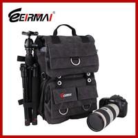 compact backpack camera bag waterproof canvas material bag