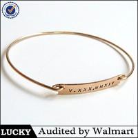 Engravable cheap unisex name plate personalized bracelet
