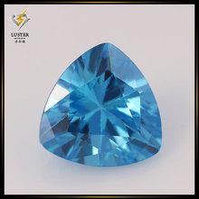 Factory price 4*4mm trillion cut cubic zirconia aquamarine stone price