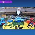Les enfants adorent île de requin parc d'attractions manèges