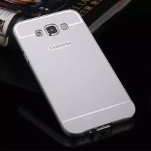 Metal Bumper Frame + Acrylic Back Phone Case Armor Cover For Samsung Galaxy E7 E7000