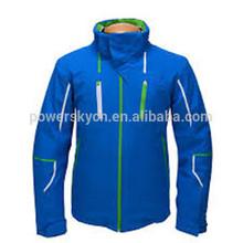 Green waterproof one piece ski wear snow jacket hiking