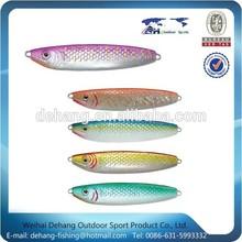 nuevo diseño de natación bien cucharas señuelo de la pesca plomo metal plantilla de pescado