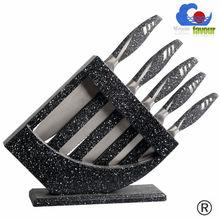 hollow handle plastic block multi color knife set
