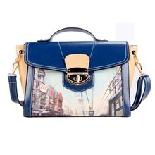 2015 New Fashion Women Synthetic Leather Handbag Rivet Twist Lock trendy handbags SV018071