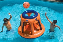 giant inflatable basketball hoop for water fun