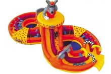 QH-C-71-giant outdoor commercial kids inflatable jumping castle_wolf