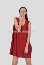 The merino wool women's sleeveless and loose skirt