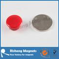 装飾的な小さなサイズネオジム磁石n35等級に色が付いているプラスチック