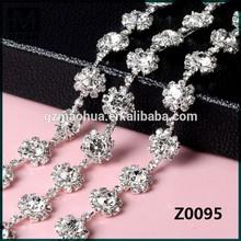Fashion new arrival wholesale bridal rhinestone applique sash Z0095