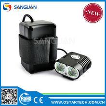 Sanguan Quick Release Mount 2000lm MTB Bike Light/Helmet Light