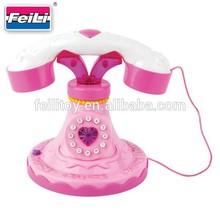 hot toys 2015 shantou toys factory educational B/O plastic telephone toy