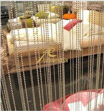 Metal decorative bead curtain,restaurant hanging partition,divider